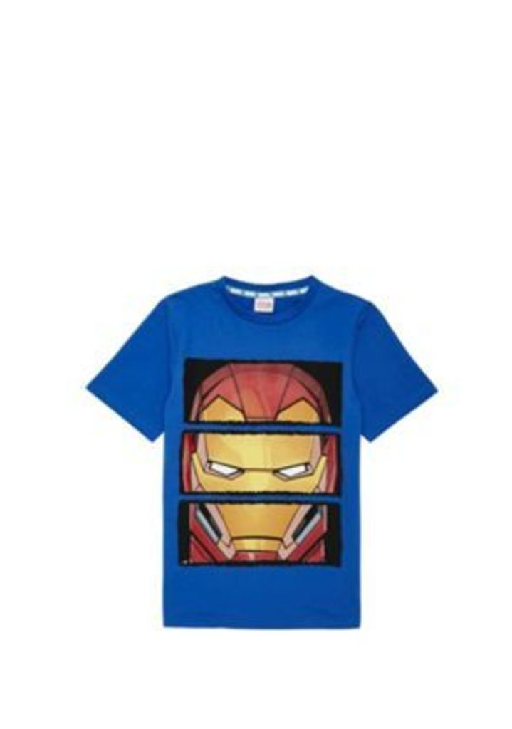 Marvel Iron Man Spliced Print T-Shirt, Men's, Size: 10-11 yrs