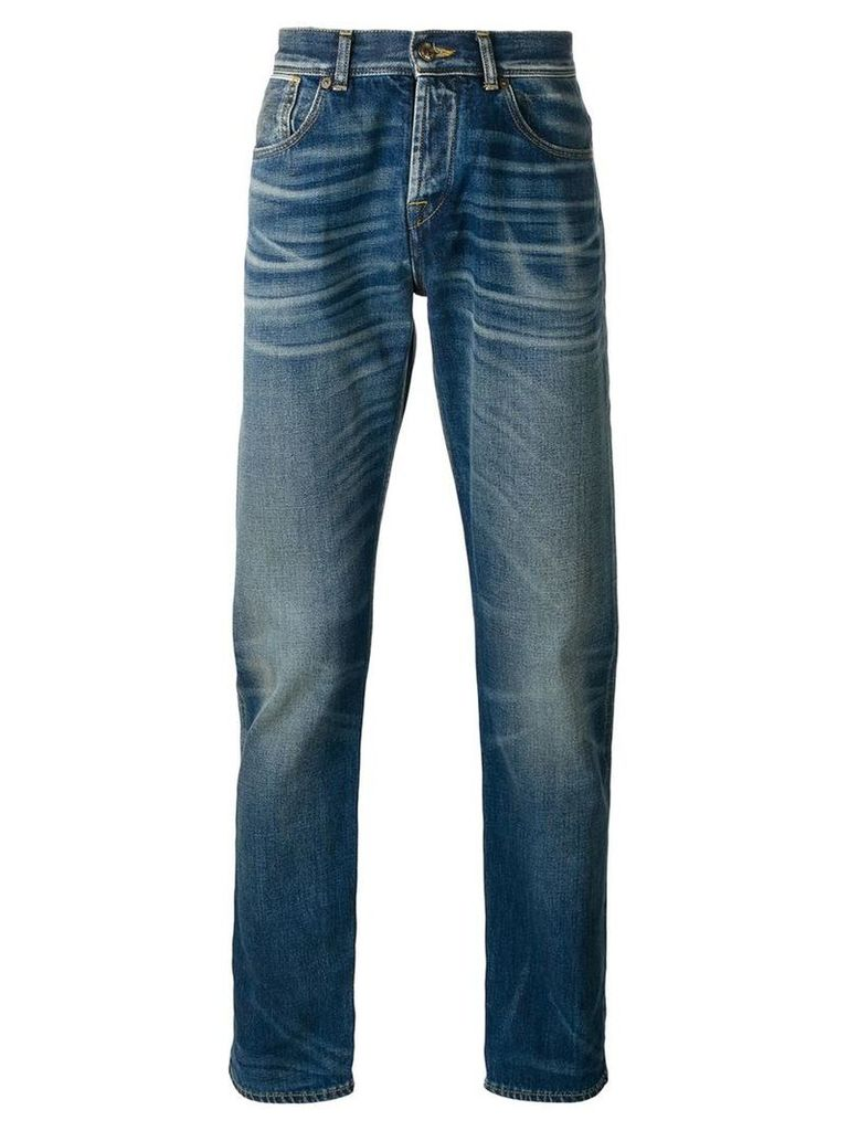 7 For All Mankind stonewashed slim-fit jeans, Men's, Size: 33, Blue