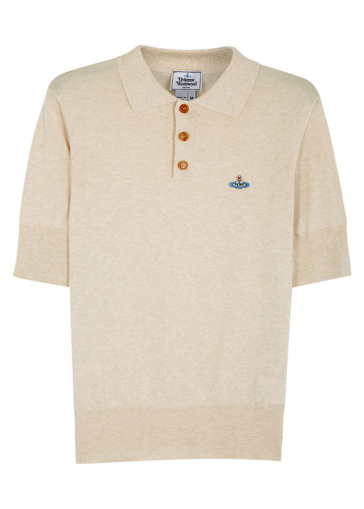 Biscuit cotton polo shirt
