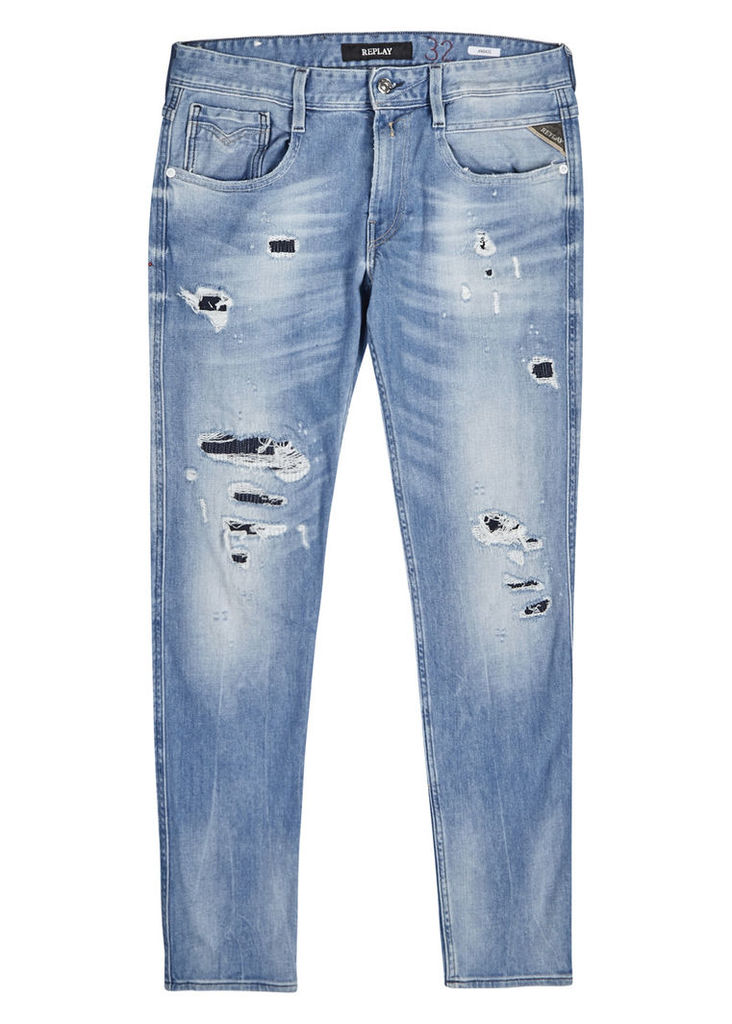 Anbass distressed skinny jeans