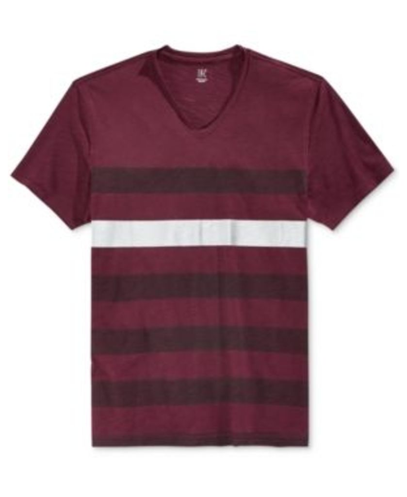 Inc International Concepts Men's Metallic-Stripe T-Shirt, Only at Macy's