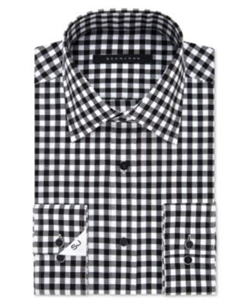 Sean John Classic/Regular Fit Men's Classic-Fit Eclipse Checked Dress Shirt