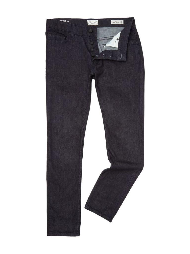 Men's Only & Sons Loom Slim Fit Jeans, Denim Dark Wash