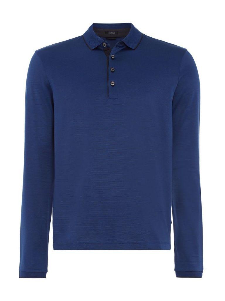 Men's Hugo Boss Pado Regular Fit Mercerised Fine Stripe Polo, Blue