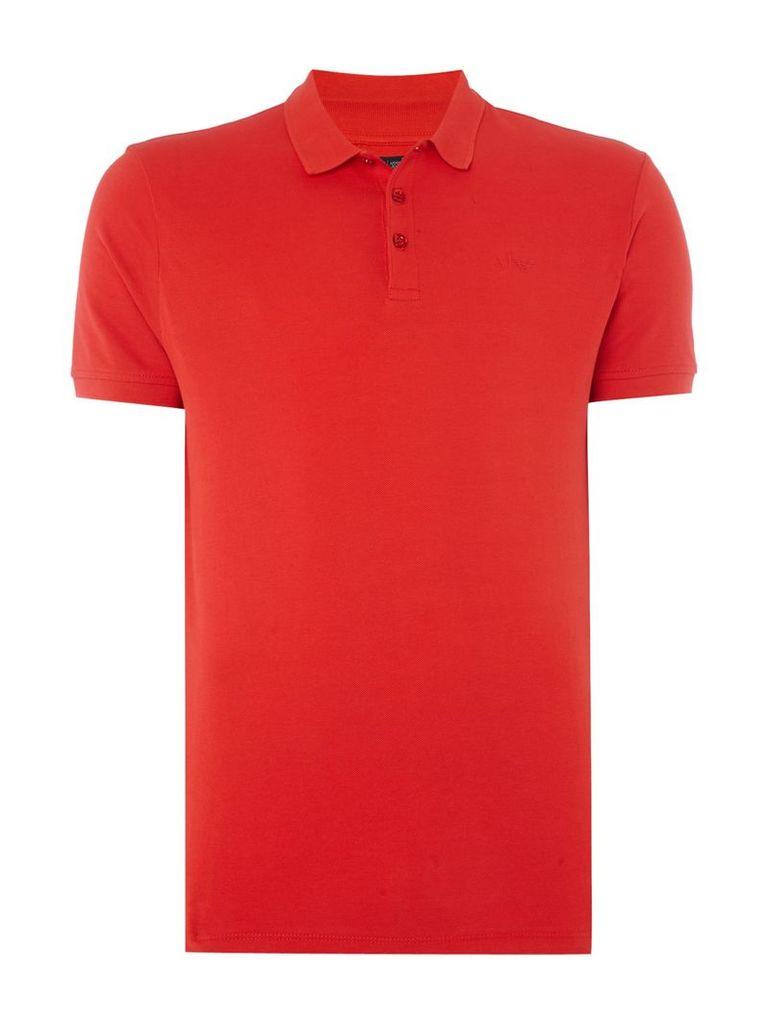 Men's Armani Jeans Regular fit short sleeve logo polo shirt, Red