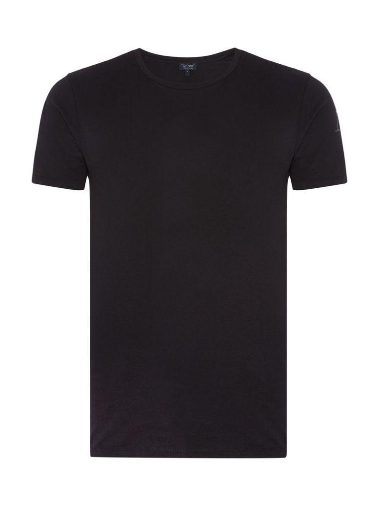 Men's Armani Jeans Regular fit eagle back printed t shirt, Black