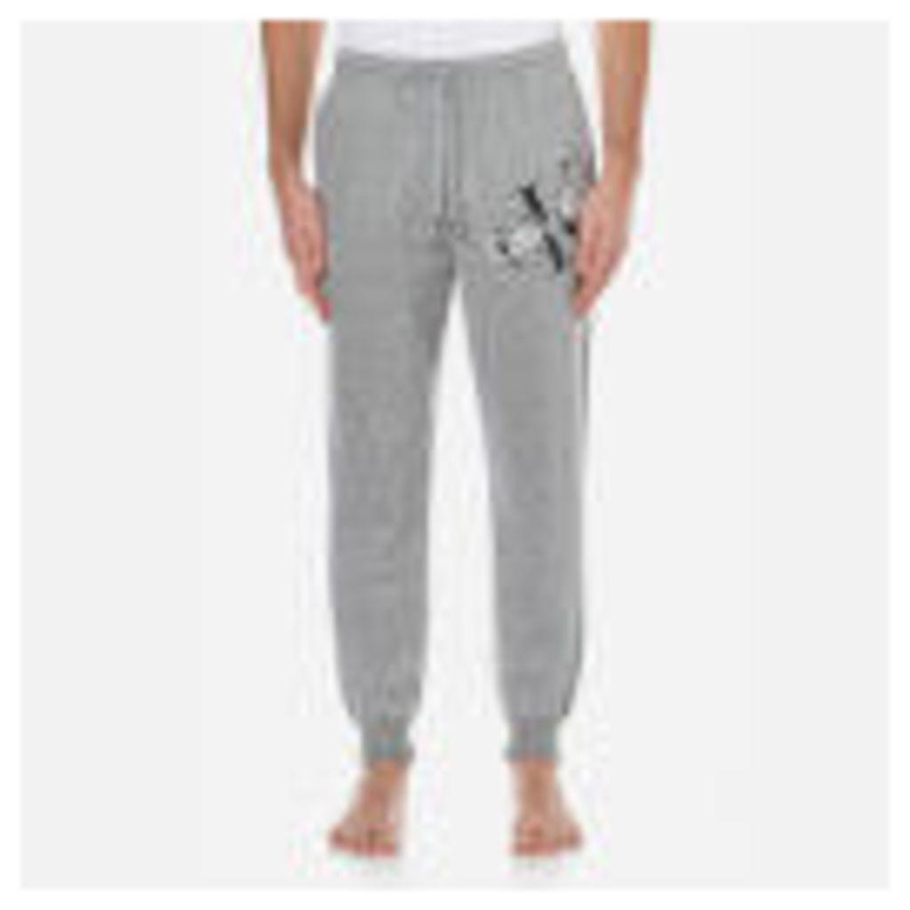 Calvin Klein Men's Large Logo Joggers - Mod Grey Heather - M