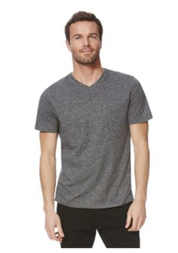 F&F Marl V-Neck T-Shirt with As New Technology, Men's, Size: Large