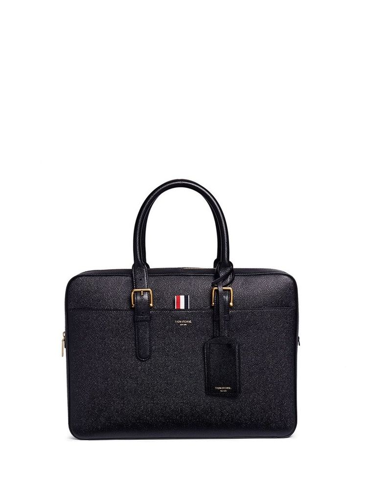 Pebbled leather business briefcase
