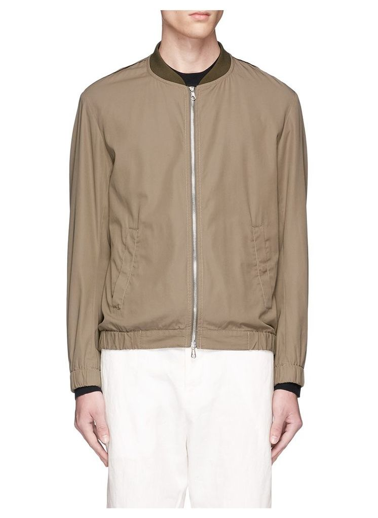 Cotton twill bomber jacket