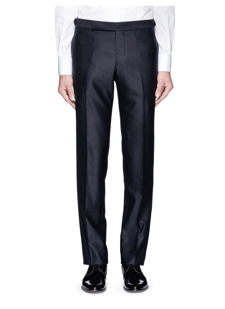 Silk outseam wool tuxedo pants