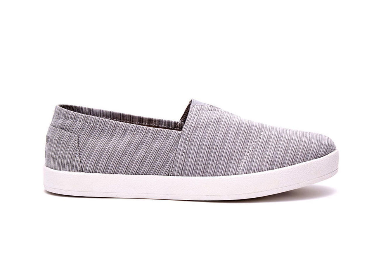 Vapor Grey Stripe Men's Avalon Slip Ons