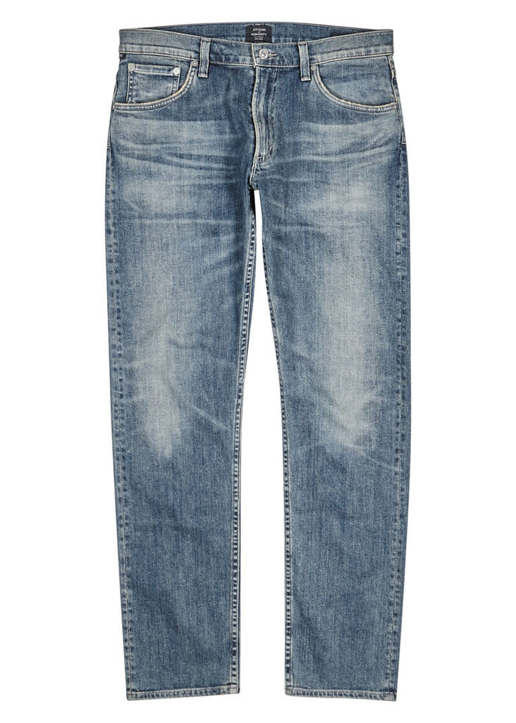 Bowery blue straight-leg jeans