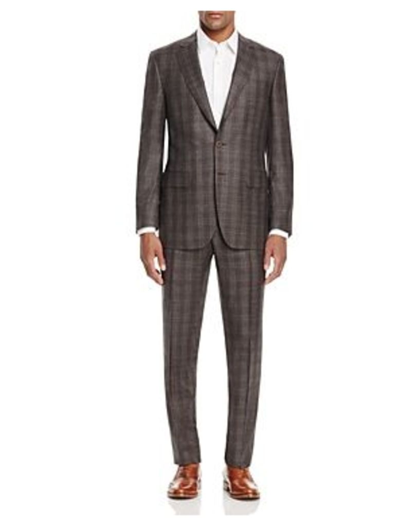 Canali Firenze Plaid Touch Regular Fit Suit