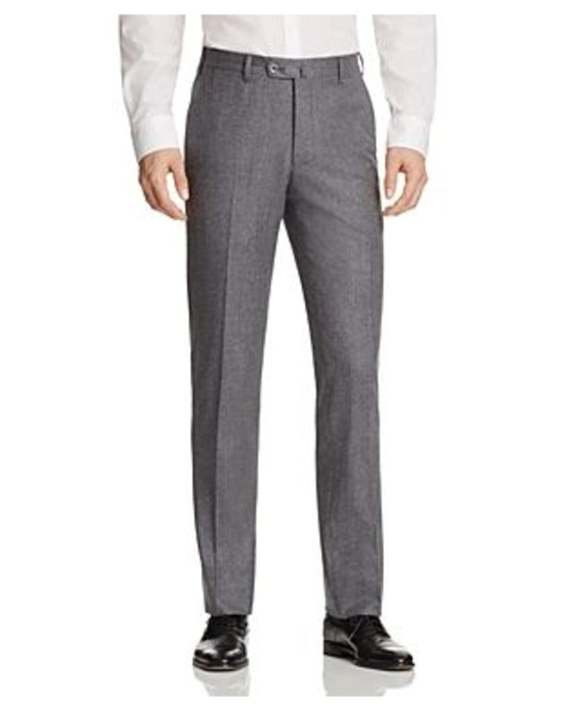 Valentini S120S Solid Flannel Regular Fit Trousers - 100% Bloomingdale's Exclusive