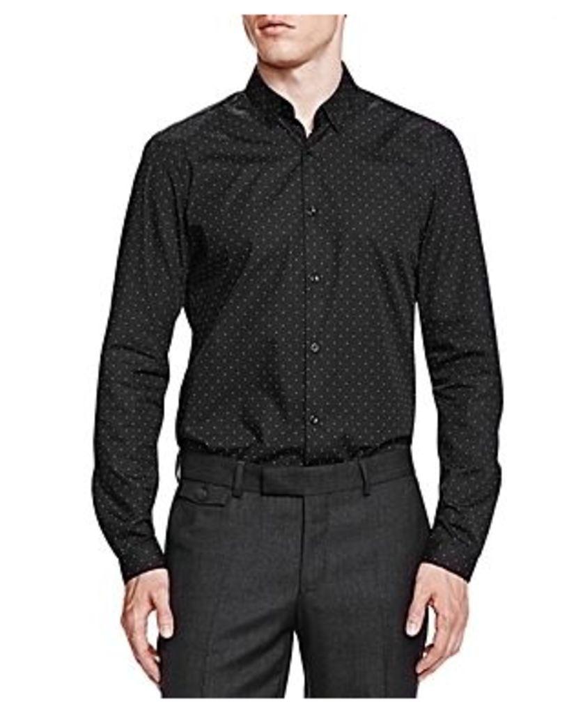 The Kooples Black Hole Slim Fit Button-Down Shirt