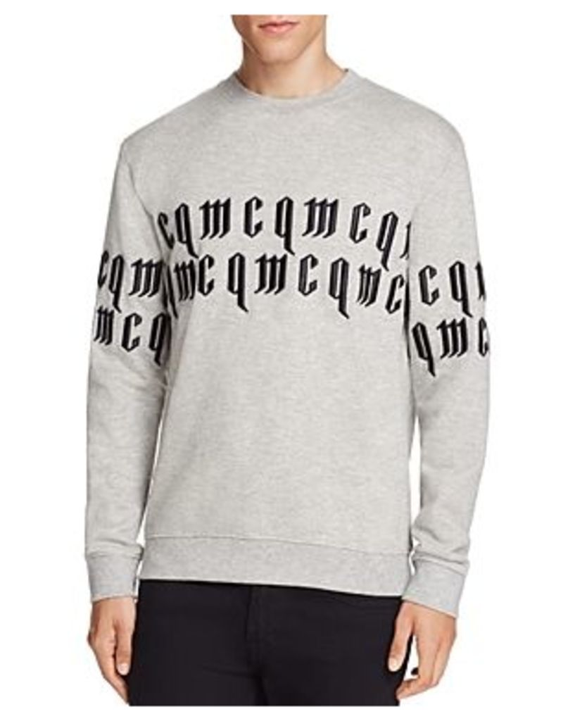 McQ Alexander McQueen Embroidered Typography Sweatshirt