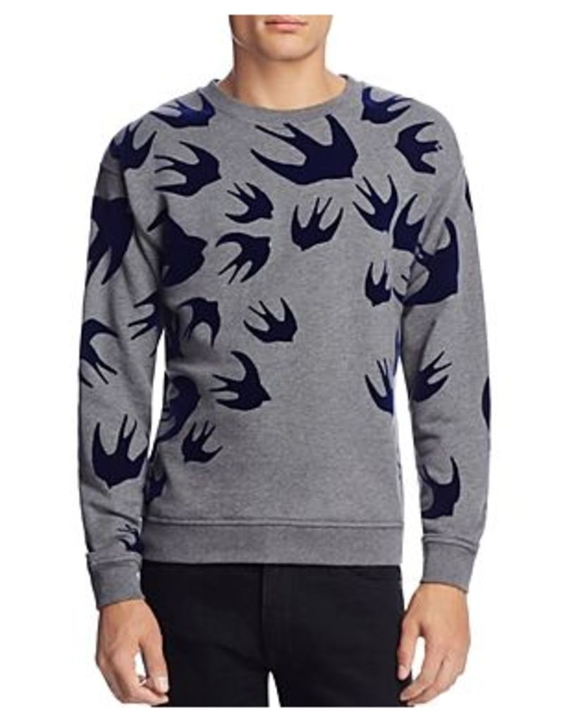 McQ Alexander McQueen Allover Swallow Sweatshirt