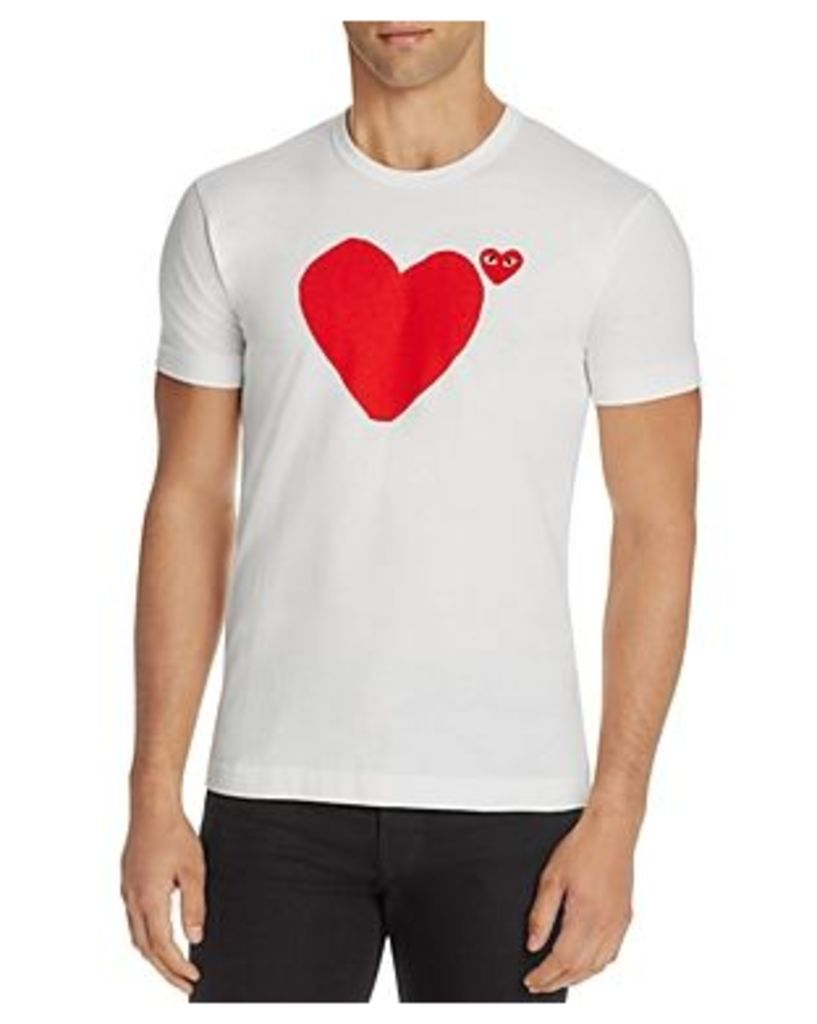 Comme Des Garcons Play Heart Graphic Tee