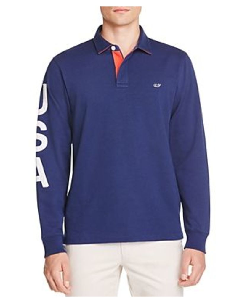 Vineyard Vines Usa Rugby Classic Fit Polo Shirt