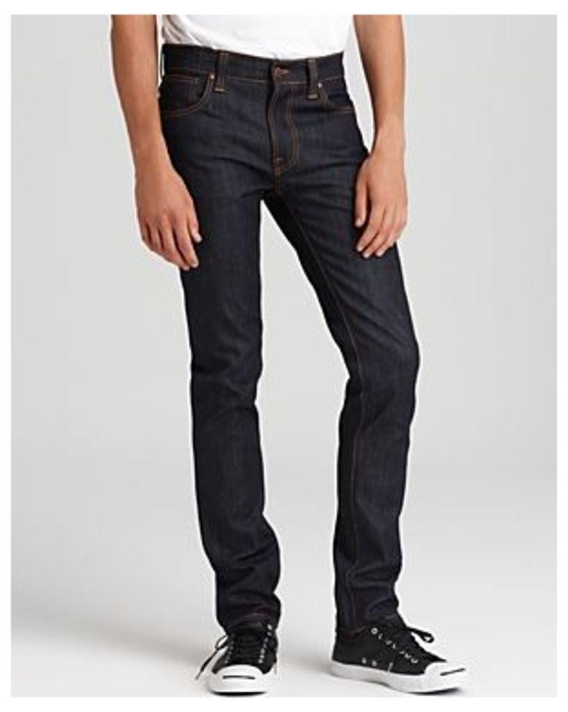 Nudie Jeans Co Thin Finn Slim Fit Jeans in Organic Dry Ecru Embo