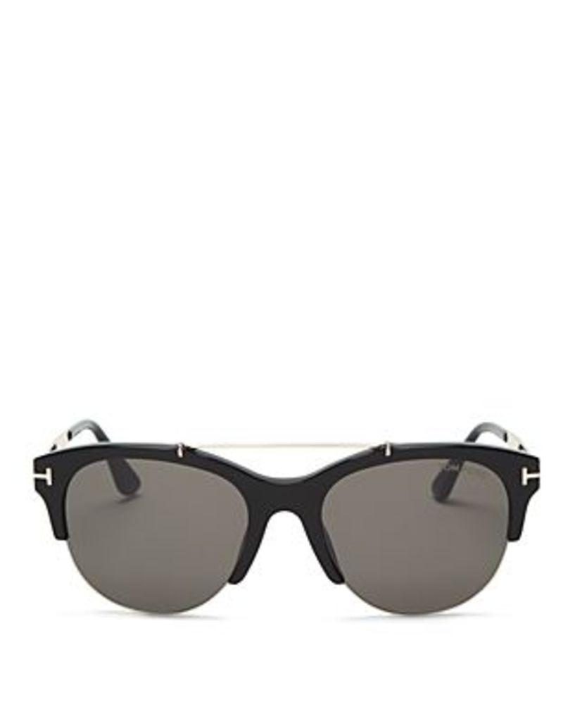Tom Ford Holt Square Top Bar Sunglasses, 55mm