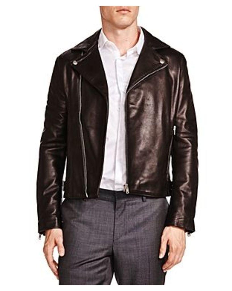 The Kooples Minimalist Leather Moto Jacket