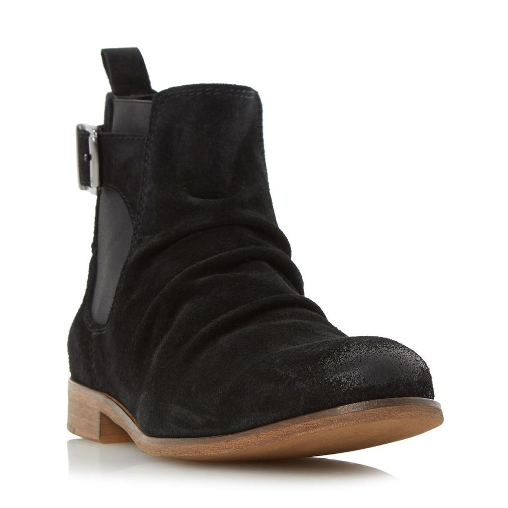 Casper Buckle Strap Ruched Boot