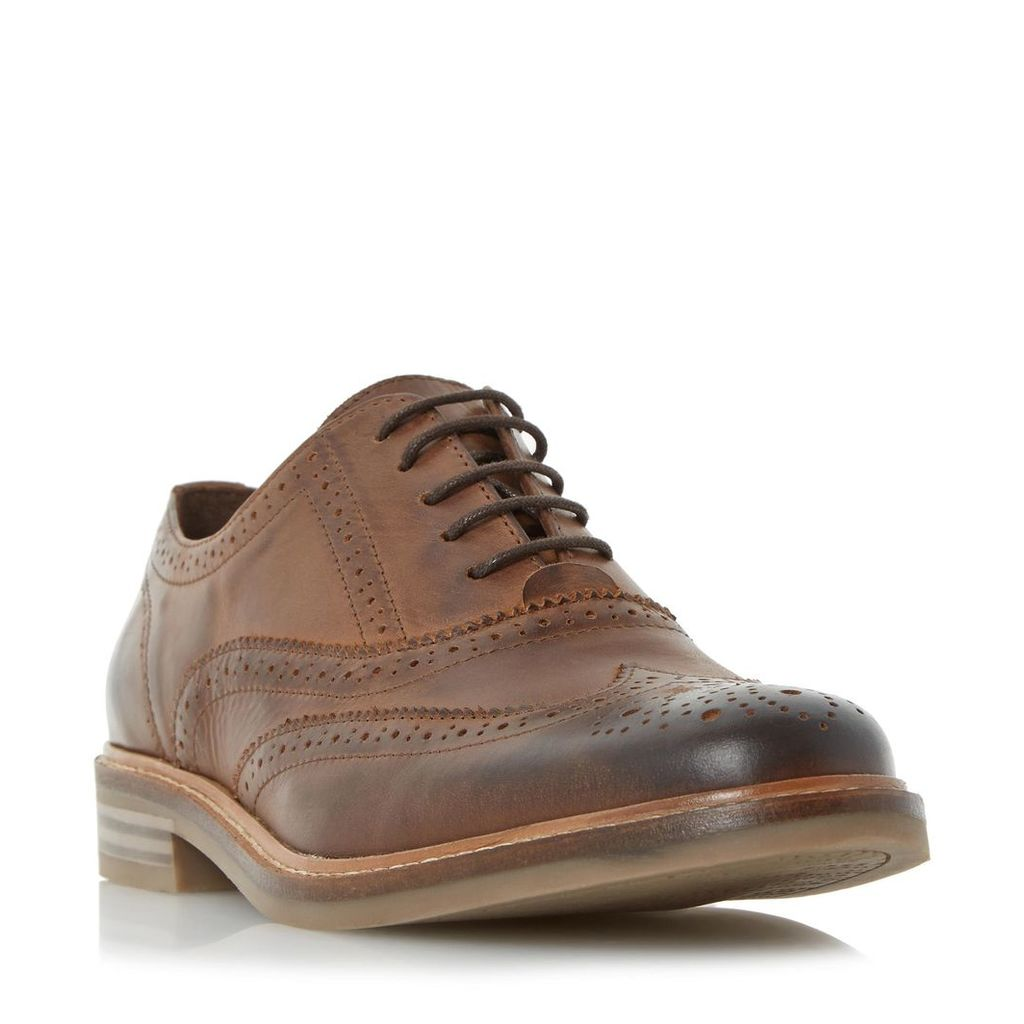 Brindle Burnished Detail Brogue Shoe