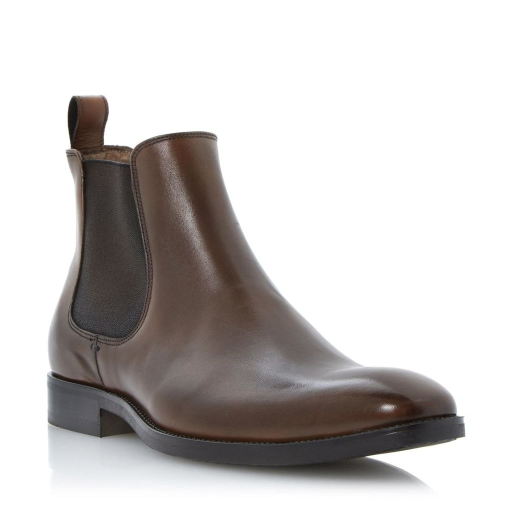 Cain Square Toe Leather Chelsea Boot