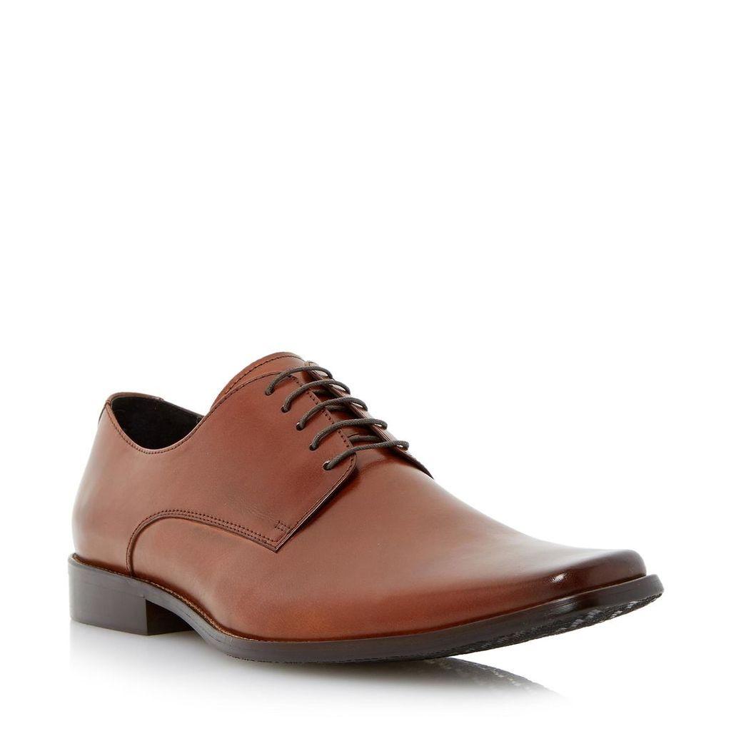 Alphabet Square Toe Leather Work Shoe