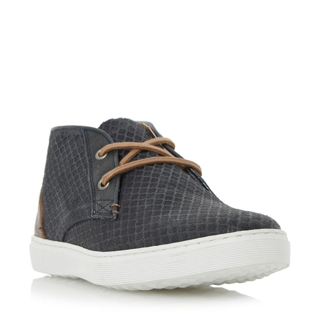Sultan Embossed Canvas High Top Trainer
