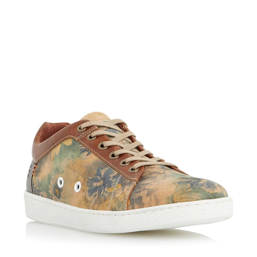 Tropicana Floral Print Leather Trainer