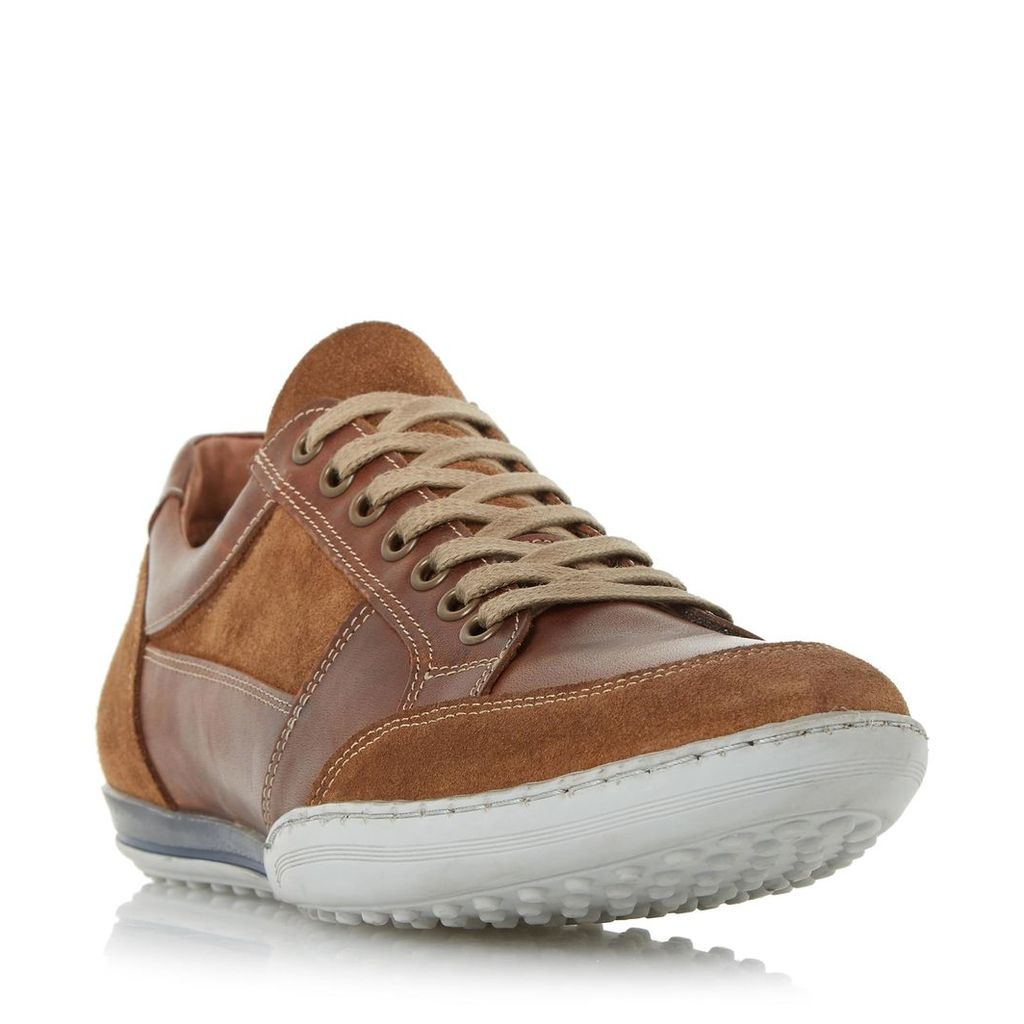 Titan Mixed Leather Lace Up Trainer