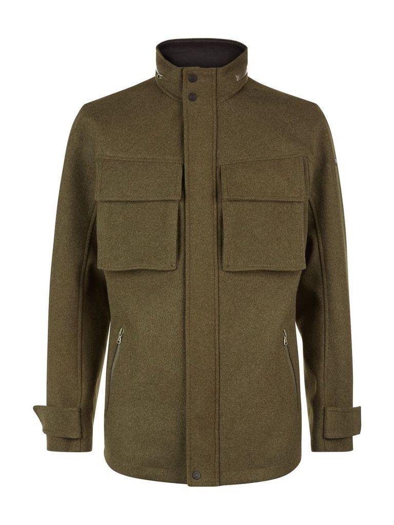 Men's Victorinox Highlander VII Wool Field Jacket, Green