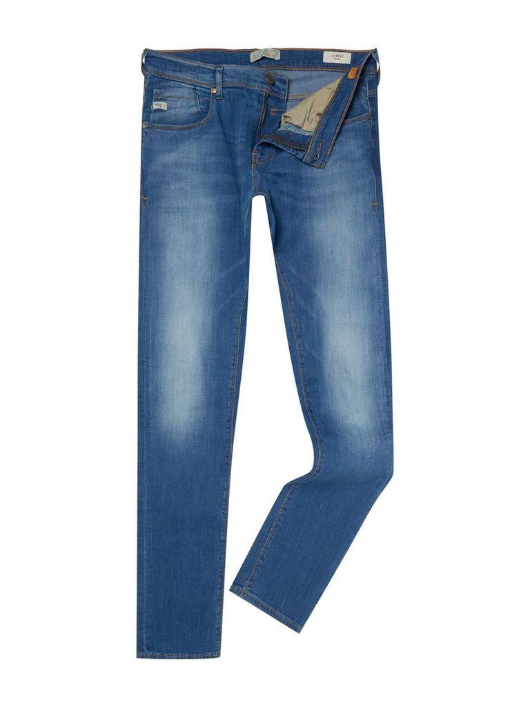 Men's Blend Light Wash Low Rise Jeans, Mid Blue