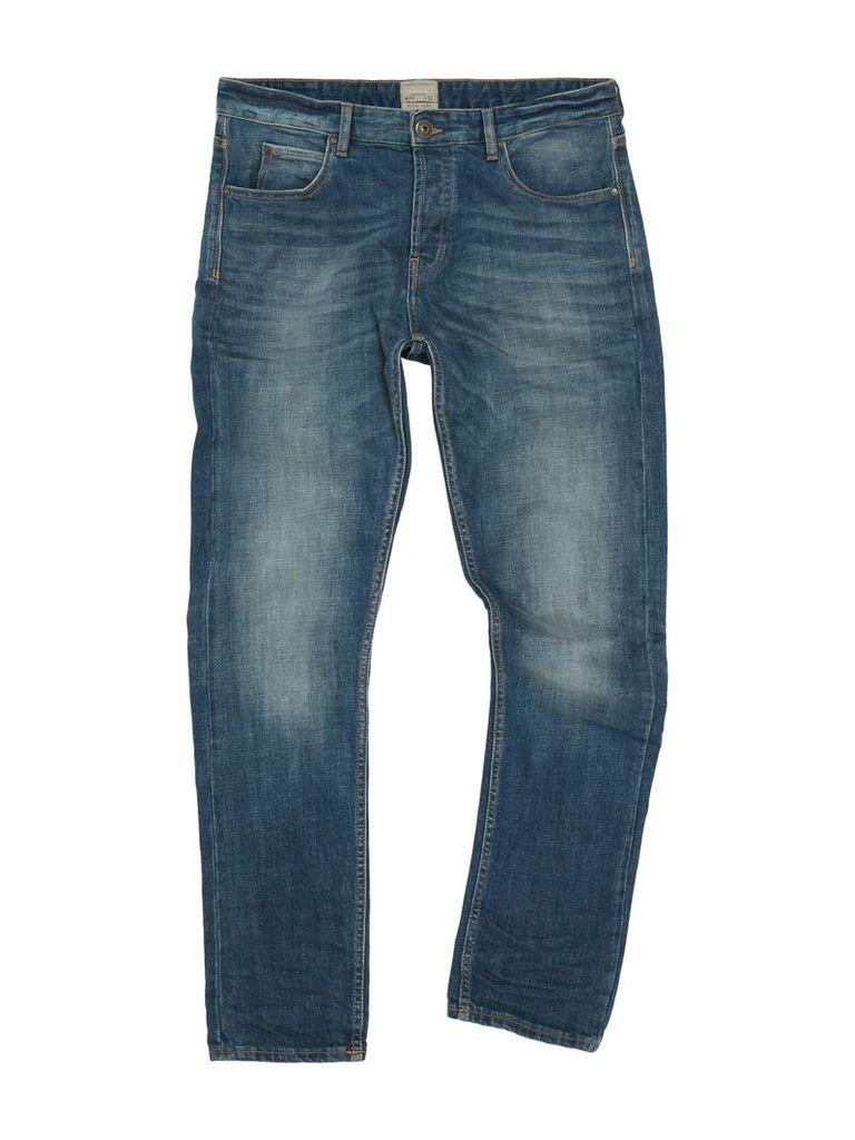 Men's Linea Aiden Slim Fit Mid Blue Jean, Mid Blue