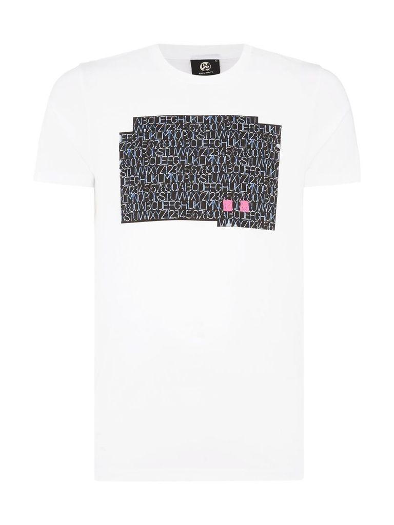 Men's PS By Paul Smith Stencil print t-shirt, White