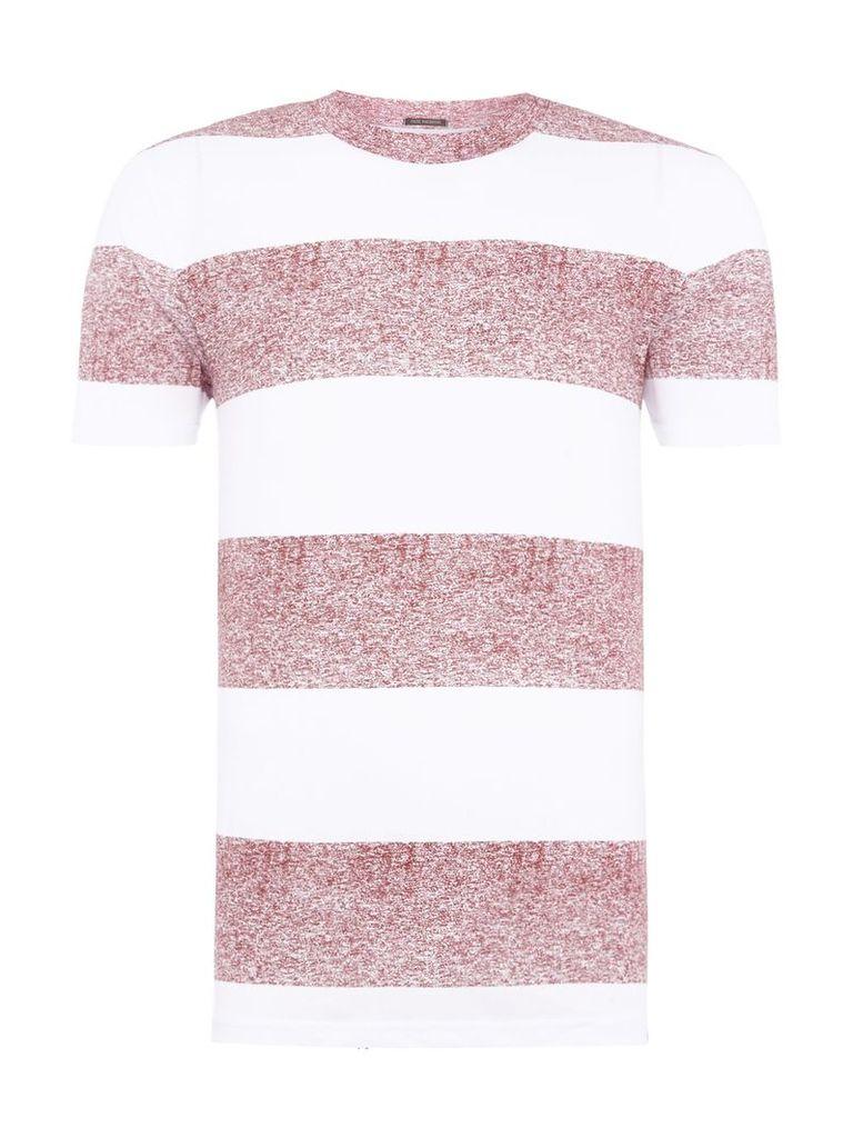 Men's Jack & Jones Wide Marl Stripe Short Sleeve T-shirt, Port