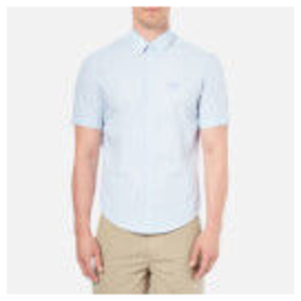 BOSS Green Men's C-Busterino Short Sleeved Shirt - Sky - L