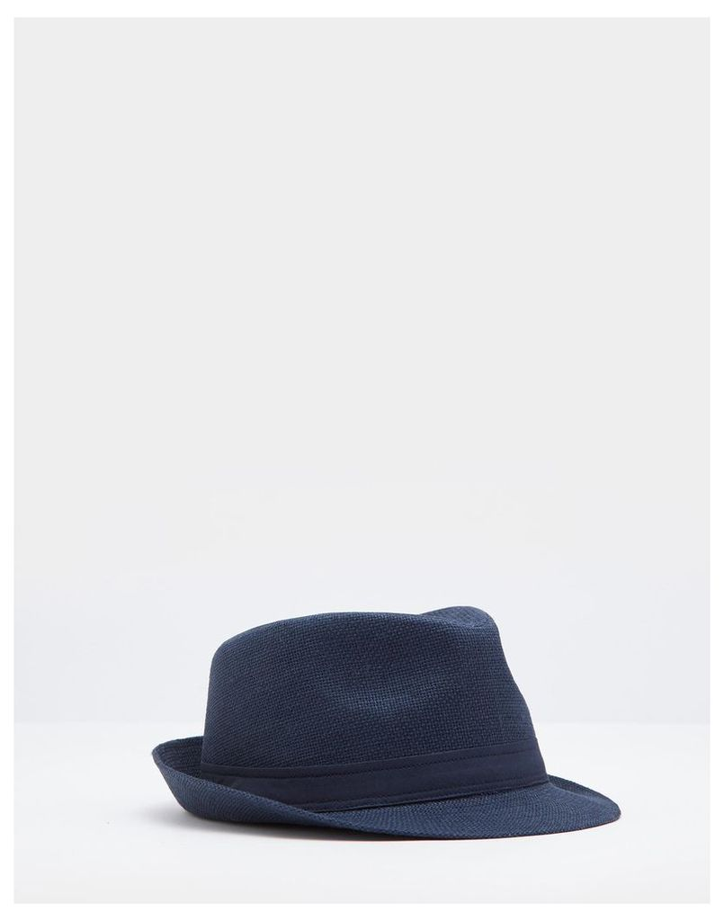 Navy Halstow Trilby Hat  Size S/M | Joules UK