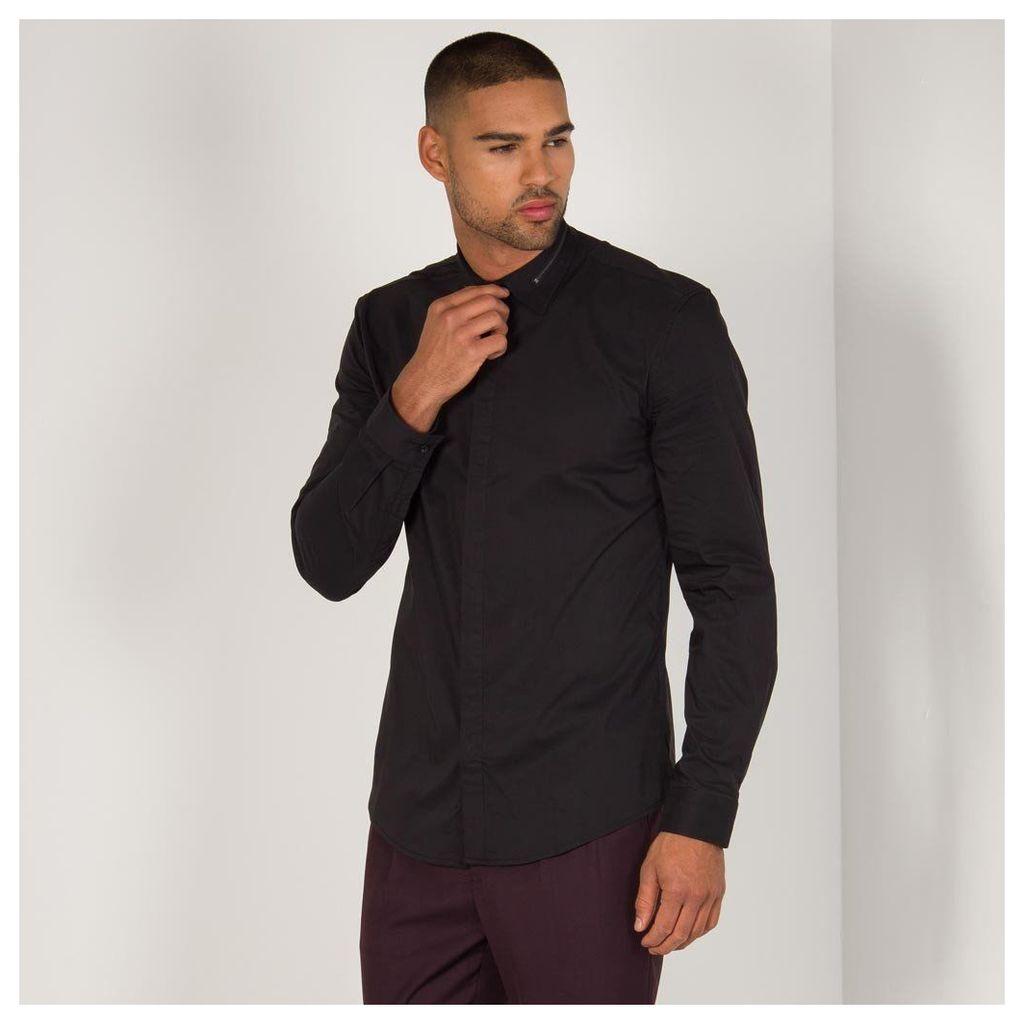 Maniere De Voir; Zip Collar Shirt - Black