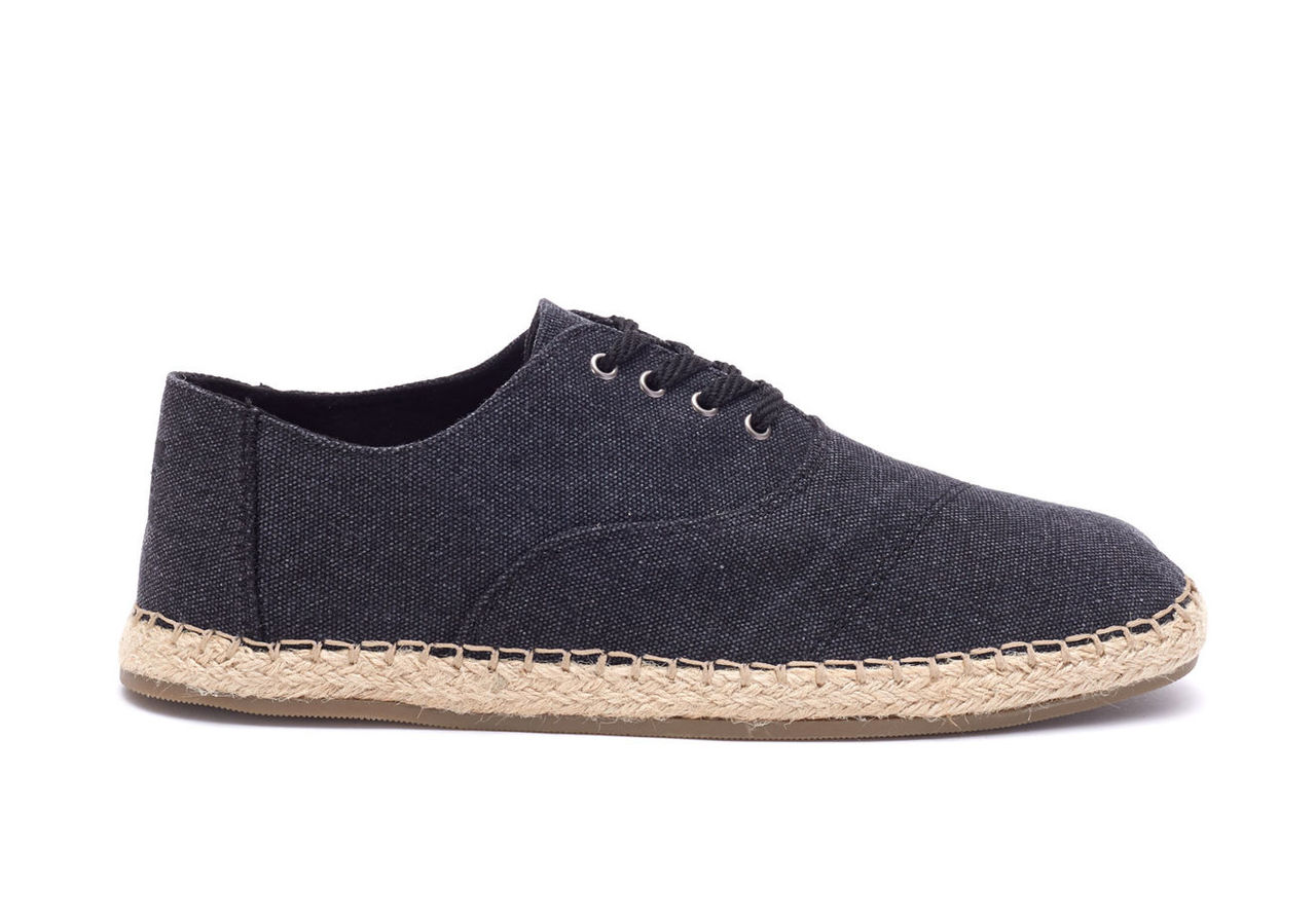 Black Washed Canvas Men's Caminos