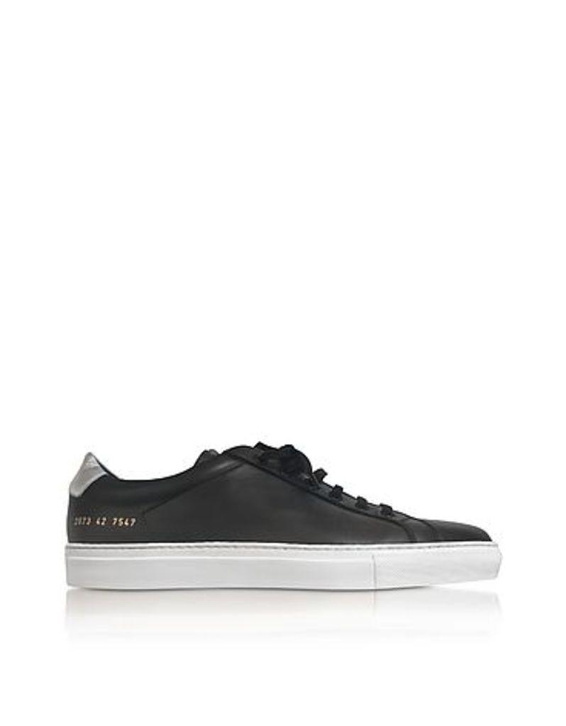Common Projects - Achilles Retro Low Black Leather Men's Sneaker