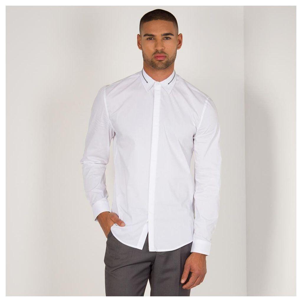 Maniere De Voir; Zip Collar Shirt - White