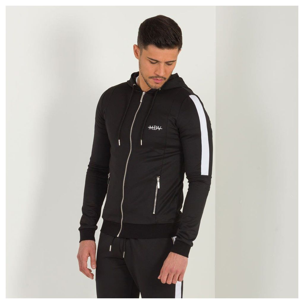 Maniere De Voir; Tracksuit Jacket with Stripe - Black