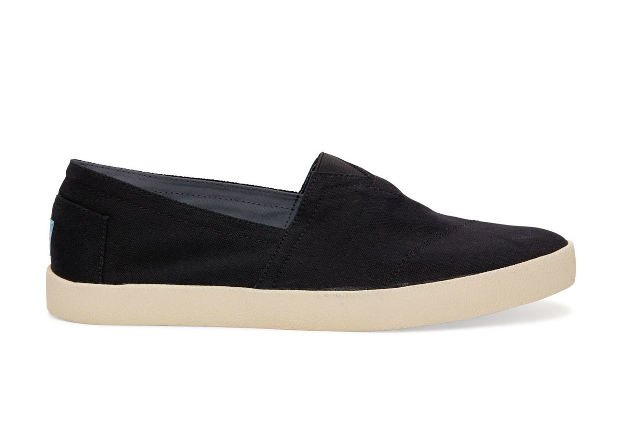 Black Canvas Men's Avalon Slip Ons