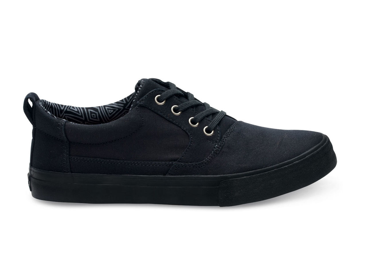 Black On Black Cotton Twill Men's Valdez