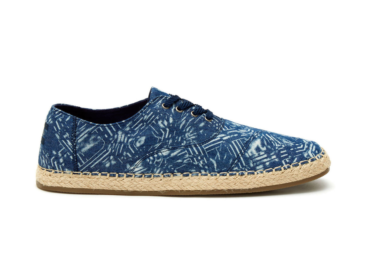 Blue Batik Textile Men's Caminos