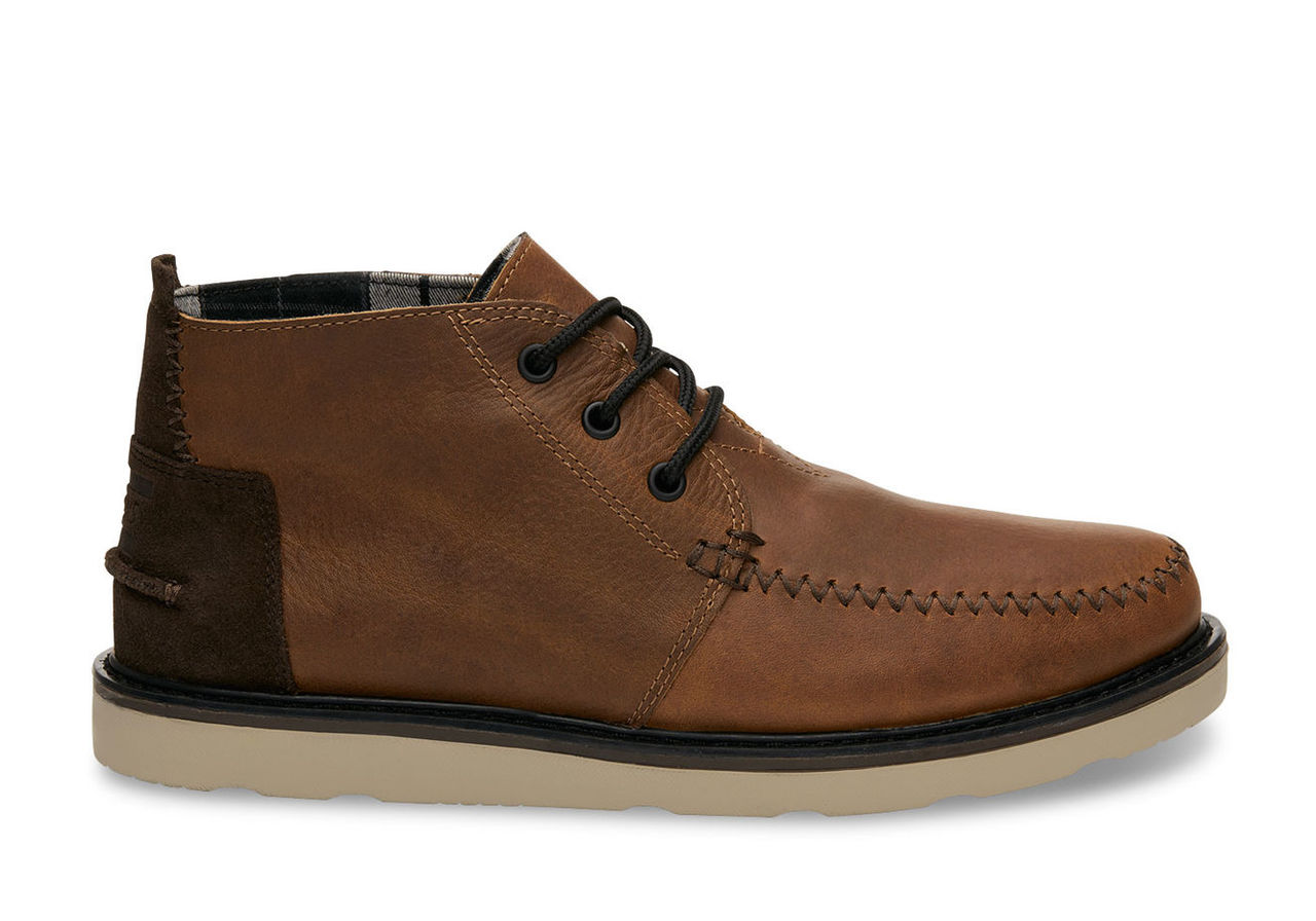 Brown Leather/Waterproof Men's Chukka Boots